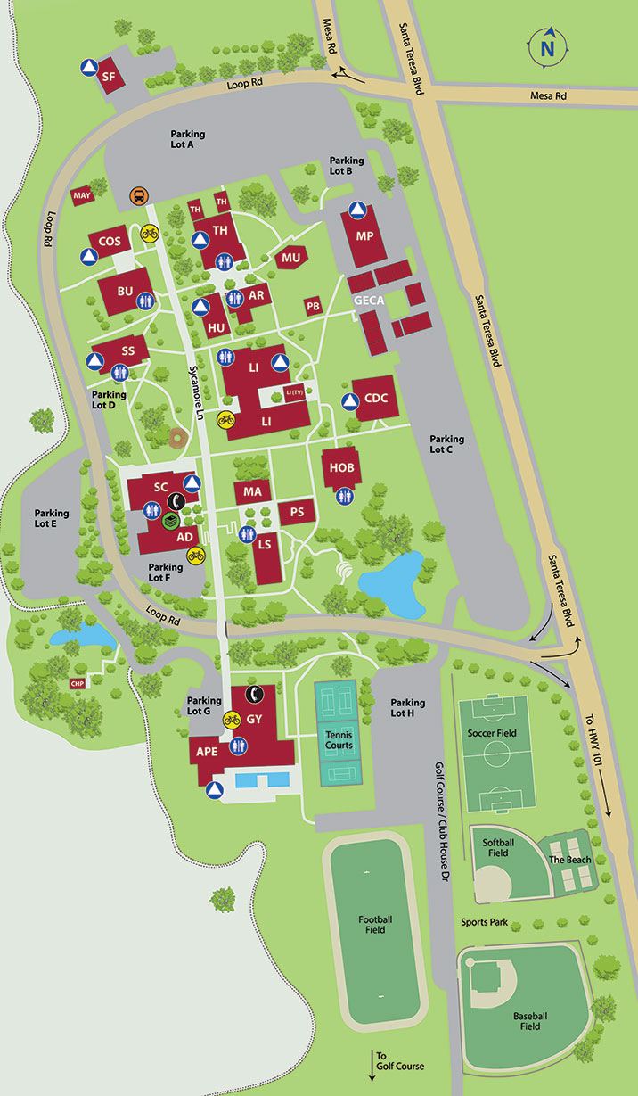 Gilroy Campus Map - Gavilan College on cerritos college map, santa cruz college map, community college map, southwestern college map, san diego miramar college map, mills college map, hartnell college map, fullerton college map, los angeles valley college map, bloomfield college map, glendale college map, mission college map, victor valley college map, merced college map, cdc roybal campus building map, copper mountain college map, merritt college map, georgia perimeter college map, university of the pacific map, san jose college map,