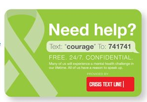 Need help - text 'courage' to 741741
